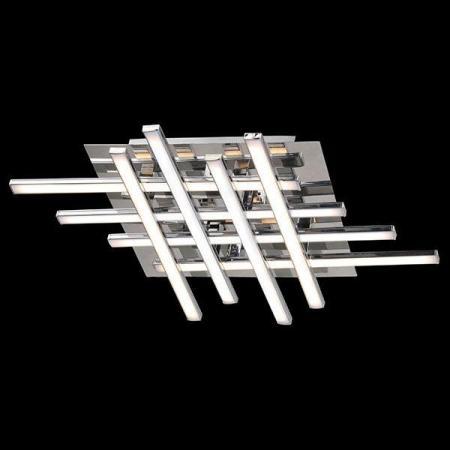 Потолочный светодиодный светильник Eurosvet Хай-Тек 90020/8 хром настенное бра eurosvet хай тек 90020 2 хром