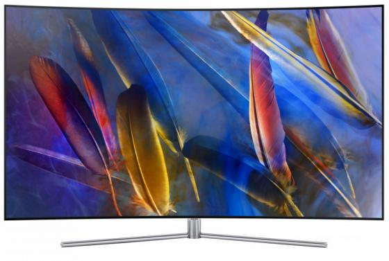 Телевизор 55 Samsung QE55Q7CAMUXRU черный 3840x2160 200 Гц Wi-Fi Smart TV RJ-45 Bluetooth WiDi телевизор led 65 samsung qe65q7camux серебристый 3840x2160 wi fi smart tv rs 232c