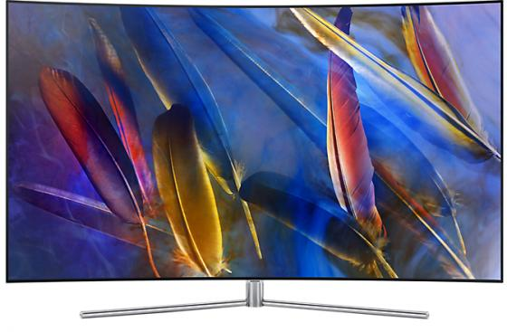 Телевизор LED 49 Samsung QE49Q7CAMUXRU серебристый 3840x2160 Wi-Fi Smart TV RJ-45 телевизор led 40 bbk 40lex 5027 t2c черный 1366x768 50 гц wi fi smart tv vga rj 45