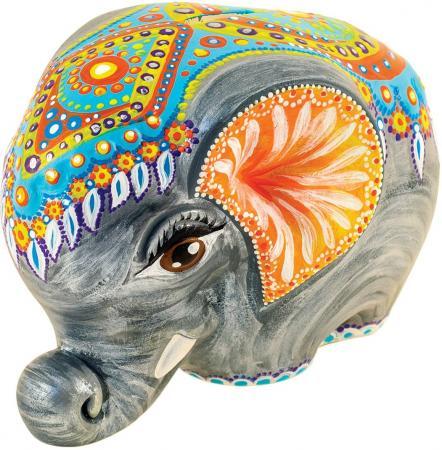Набор для росписи по керамике FELICITA Копилка Слоник от 5 лет 282627b бумбарам копилка раскраска сова