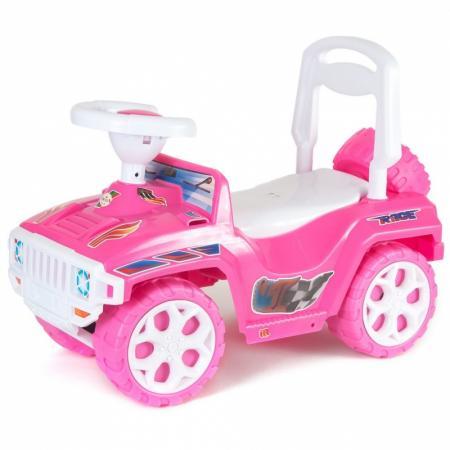 Каталка-машинка Orion Ориончик пластик от 2 лет на колесах розовый 419_розовая каталка машинка r toys bentley пластик от 1 года музыкальная красный 326