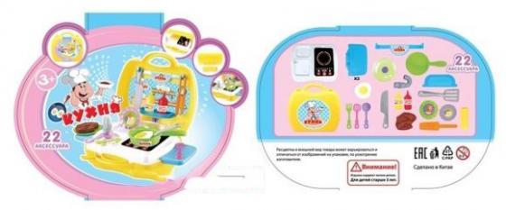 Игровой набор Shantou Gepai Кухня в чемоданчике 22 предмета 2100 набор мебели для куклы shantou gepai в чемоданчике 8019