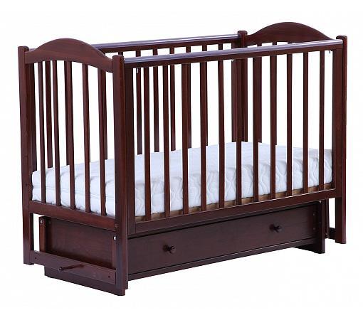 Кроватка с маятником Кубаночка-2 БИ 38.2 (орех темный 35) обычная кроватка ведрусс лана 2 темный орех