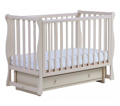 Кроватка с маятником Кубаночка-4 БИ 40.2 (слоновая кость) кроватка с маятником кубаночка 1 би 37 2 слоновая кость