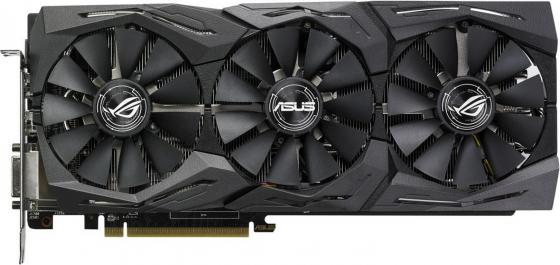 Видеокарта 8192Mb ASUS RX580 PCI-E DVI HDMI DP HDCP ROG-STRIX-RX580-O8G-GAMING Retail рамка flock на 1 пост белая werkel 1022948