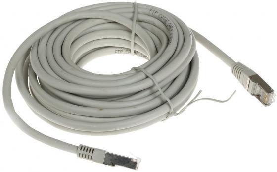 Патч-корд FTP 6 категории 7.5м серый CCA PVC