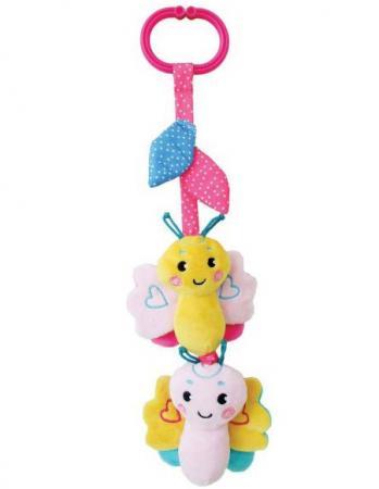 Развивающая игрушка Жирафики Подвеска с вибрацией, пищалкой и шуршалкой Бабочка, розовая 939481