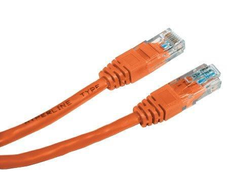 Патч-корд UTP 5E категории 3.0м Hyperline PC-LPM-UTP-RJ45-RJ45-C5e-3M-LSZH-OR оранжевый сетевой кабель onext ethernet rj45 m cat 5e 3m 60802