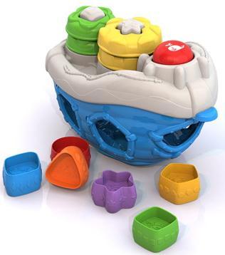 Дидактическая игрушка Нордпласт Кораблик 1300 в ассортименте
