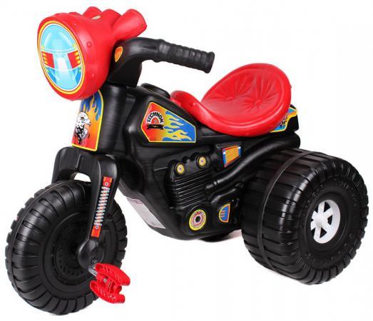 Каталка-машинка ТехноК Мотоцикл Гонки с педалями 4135 пластик от 3 лет на колесах черно-красный каталка машинка технок мотоцикл гонки с педалями 4135 пластик от 3 лет на колесах черно красный