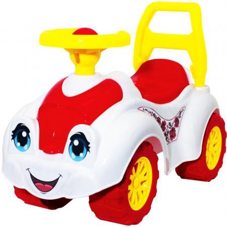 все цены на Каталка-машинка ТехноК Автомобиль для девочек 3503 пластик от 1 года на колесах разноцветный онлайн