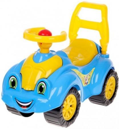 Каталка-машинка ТехноК Автомобиль для прогулок пластик от 1 года на колесах желто-голубой 3510 каталка машинка технок мотоцикл гонки с педалями 4135 пластик от 3 лет на колесах черно красный