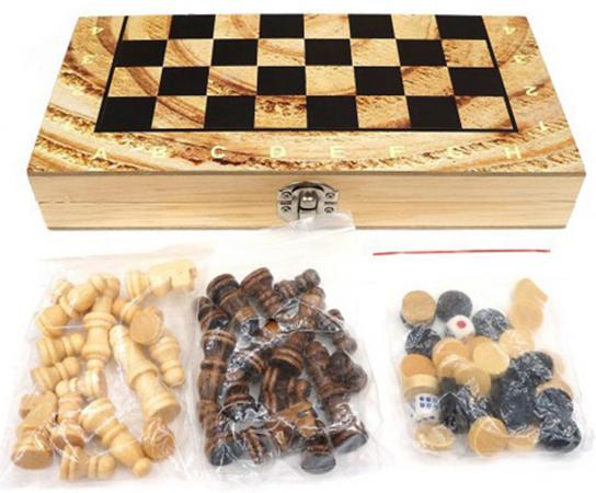 Напольная игра набор игр Shantou Gepai Шахматы, шашки, нарды 3в1 W2018-H