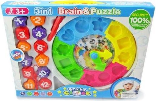 Развивающая игрушка Shantou Gepai 3в1 Сортер, лабиринт, часы 520 stellar развивающая игра сортер логический кубик 01314