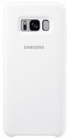 Чехол Samsung EF-PG955TWEGRU для Samsung Galaxy S8+ Silicone Cover белый чехол клип кейс samsung protective standing cover great для samsung galaxy note 8 темно синий [ef rn950cnegru]