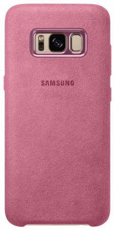 Чехол Samsung EF-XG955APEGRU для Samsung Galaxy S8+ Alcantara Cover розовый чехол клип кейс samsung alcantara cover для samsung galaxy s8 розовый [ef xg950apegru]
