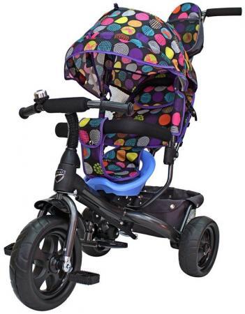 Велосипед трехколёсный RT Galaxy Лучик VIVAT Дизайн круги 10/8 разноцветный
