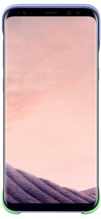 Чехол Samsung EF-MG955CVEGRU для Samsung Galaxy S8+ 2Piece Cover зеленый/фиолетовый чехол клип кейс samsung silicone cover для samsung galaxy s8 фиолетовый [ef pg955tvegru]