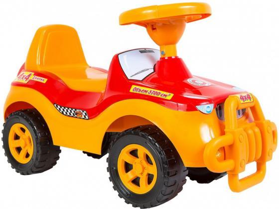 Каталка-машинка R-Toys ОР105к пластик от 8 месяцев с клаксоном желтый велосипед r toys galaxy лучик vivat 10 8 красный трехколёсный