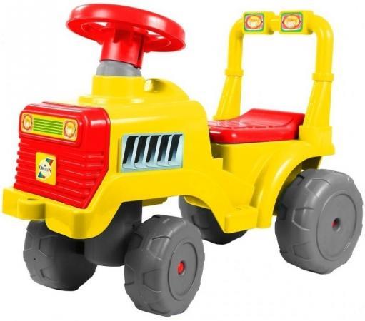 Каталка-трактор R-Toys ОР931к пластик от 10 месяцев на колесах красно-желтый