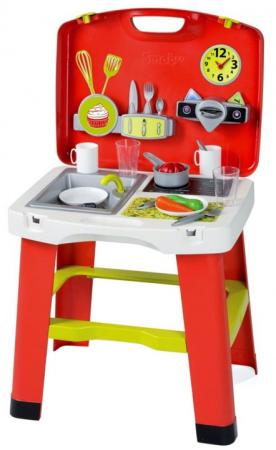 Игровой набор SMOBY Кухня в чемоданчике бытовая техника игрушечная smoby smoby набор tefal тостер кофеварка