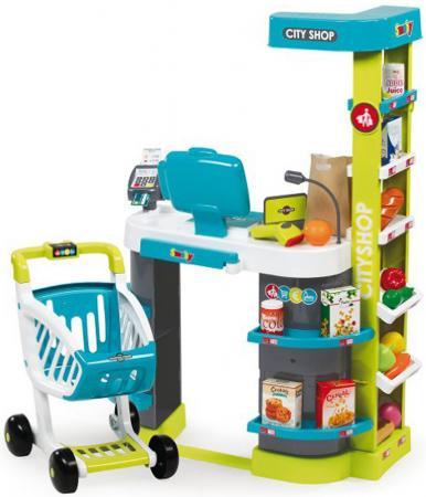 Игровой набор SMOBY City Shop - Супермаркет свет, звук, 350207 утюг игрушечный smoby smoby утюг свет звук