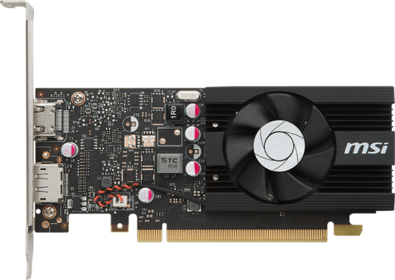 Видеокарта 2048Mb MSI GeForce GT1030 PCI-E GDDR5 64bit HDMI DP HDCP GT 1030 2G LP OC Retail видеокарта msi geforce gt 1030 gt 1030 2gh lp oc 2гб gddr5 low profile oc ret
