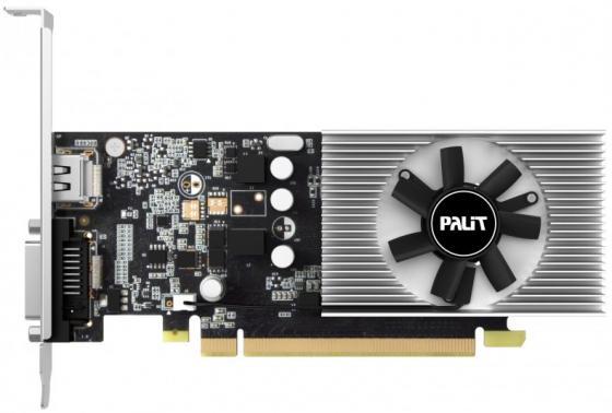 Видеокарта 2048Mb Palit GeForce GT1030 PCI-E DDR5 64bit DVI HDMI HDCP PA-GT1030 2GD5 NE5103000646-1080F Retail видеокарта asus geforce gt 710 2 sl 954mhz pci e 2 0 2048mb 1800mhz 64 bit dvi hdmi hdcp