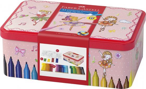 Набор фломастеров Faber-Castell Connector Балерина 33 шт разноцветный 155534 faber pareo