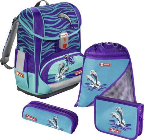 Ранец с анатомической спинкой Step by Step Light2 Happy Dolphins 138502 18 л голубой цена