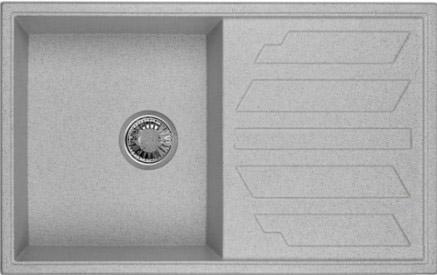 Мойка Weissgauff QUADRO 800 Eco Granit серый шелк  цена и фото