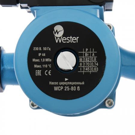 Насос циркуляционный Wester WCP 25-80G насос wester wpe 15 12n