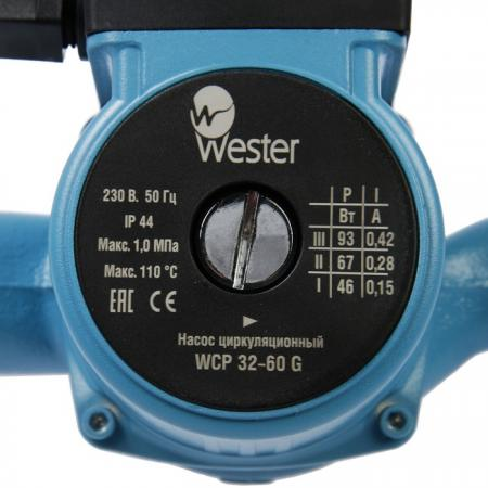 Насос циркуляционный Wester WCP 32-60G насос wester 32 60 е wpe32 60g
