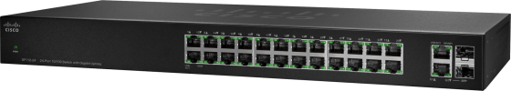 Коммутатор Cisco SG110-24HP-EU неуправляемый 24 порта 10/100/1000Mbps блок питания cisco linksys pa100 eu для voip продуктов 5v 2a