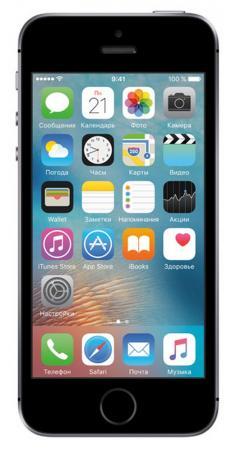 Смартфон Apple iPhone SE серый 4 128 Гб NFC LTE Wi-Fi GPS 3G MP862RU/A смартфон asus zenfone zoom zx551ml белый 5 5 128 гб nfc lte wi fi gps 3g 90az00x2 m01380