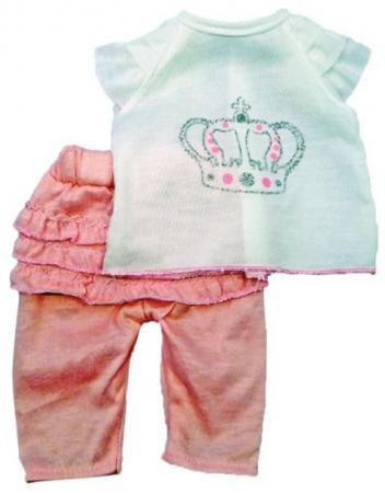 Одежда для куклы Mary Poppins 38-43см, футболка и штанишки 452030 mary poppins одежда для куклы 42 см боди mary poppins в ассортименте