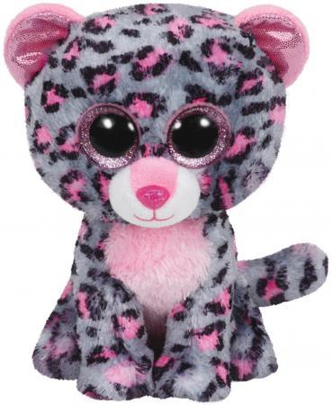 Мягкая игрушка леопард TY Леопард Tasha 23 см серый розовый искусственный мех текстиль  37038 ty волчонок slush 23 см ty