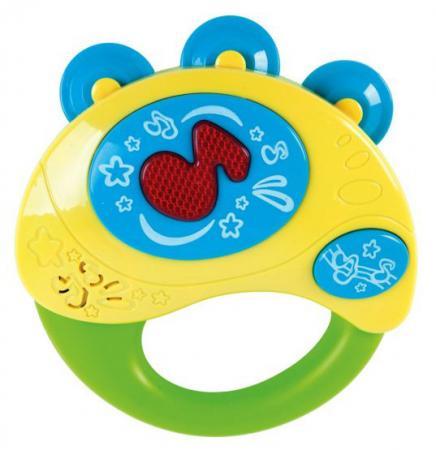 Интерактивная игрушка Жирафики Бубен 633229 от 1 года разноцветный hape деревянная музыкальная игрушка бубен