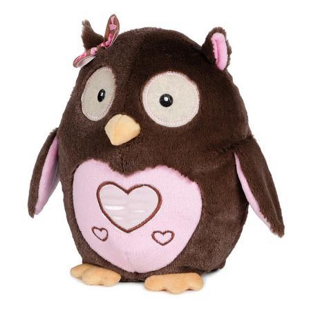 Мягкая игрушка сова MAXITOYS Сова влюбленная 22 см коричневый розовый искусственный мех текстиль пластик  MT-HH-B28874E мягкие игрушки maxitoys котенок лапушка бежевый озвученный 22 см mp hh r8997e