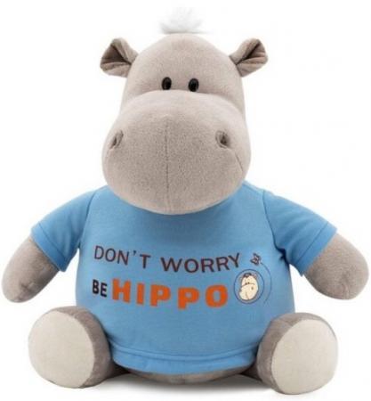 Мягкая игрушка бегемотик ORANGE Be Hippo 20 см серый текстиль искусственный мех MS6207/20 игрушка