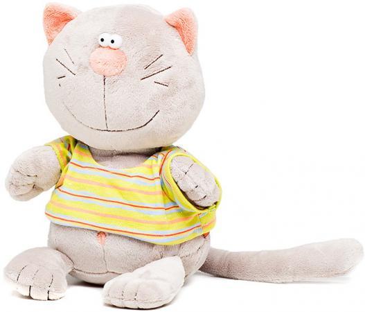 Мягкая игрушка кот ORANGE Батон 20 см серый искусственный синтепон MC2370/20B