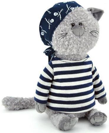 Мягкая игрушка ORANGE Кот-обормот - Пират 30 см серый текстиль мягкая игрушка кот orange кот обормот рыбак 20 см искусственный мех текстиль