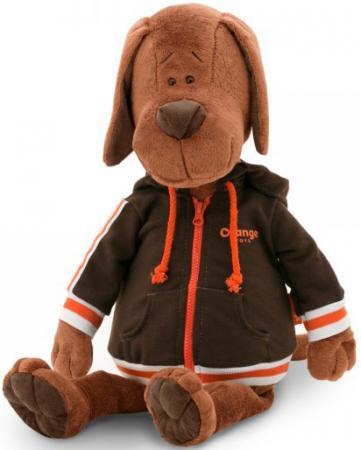 Мягкая игрушка пёс ORANGE Барбоська в толстовке 30 см коричневый искусственный мех текстиль пес барбоська с сердцем 30 в коробке orange toys