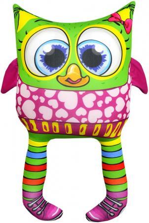 Антистрессовая игрушка сова Оранжевый кот Совенок 03 34 см разноцветный трикотаж полистирол 601527 оранжевый кот подушка игрушка антистресс кот спортсмен
