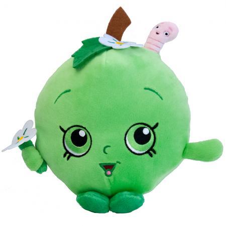 Мягкая игрушка РОСМЭН Шопкинс - Яблочко Фло 20 см зеленый текстиль 31633 moose брелок шопкинс shopkins poppy corn