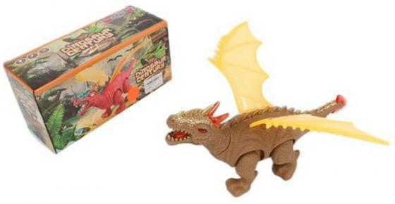 Купить Интерактивная игрушка Shantou Gepai Динозавр от 3 лет коричневый свет, звук, проектор 8772, Динозавры