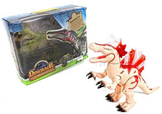 Интерактивная игрушка Shantou Gepai Dinosaur World от 3 лет бежевый свет, звук,  8804 интерактивная игрушка shantou gepai