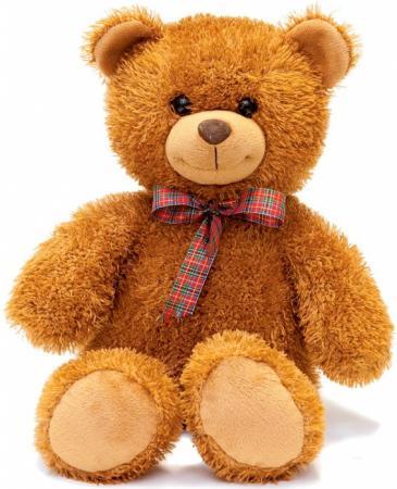 Мягкая игрушка медведь FANCY Мишка Сашка 29 см коричневый текстиль пластик MCA01V