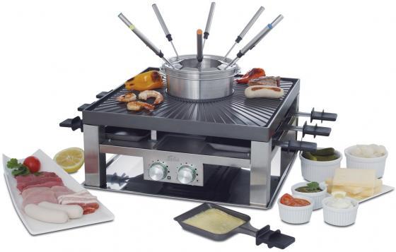 Раклетница Solis Combi-Grill 3 in 1 серебристый чёрный solis table grill 4 in 1 раклетница