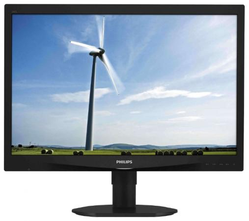 "Монитор 24"" Philips 240S4QYMB черный IPS 1920x1200 250 cd/m^2 5 ms DVI DisplayPort VGA Аудио недорого"